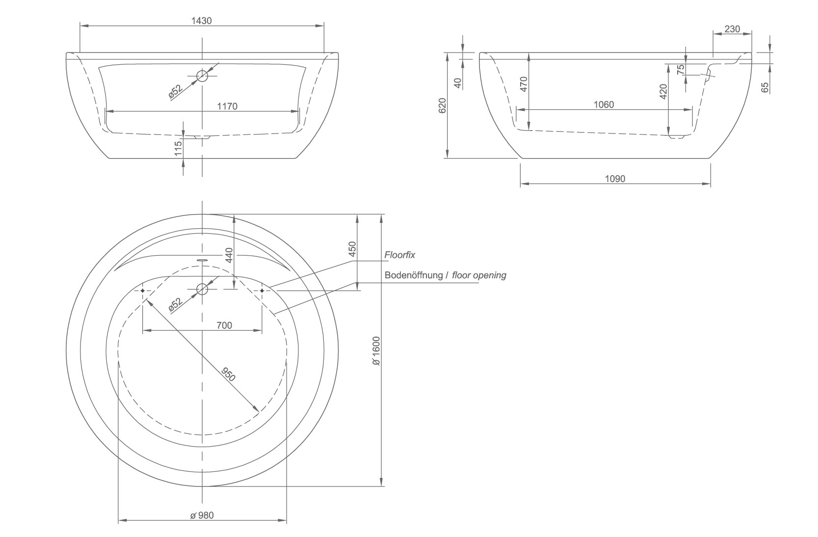 club technical drawing