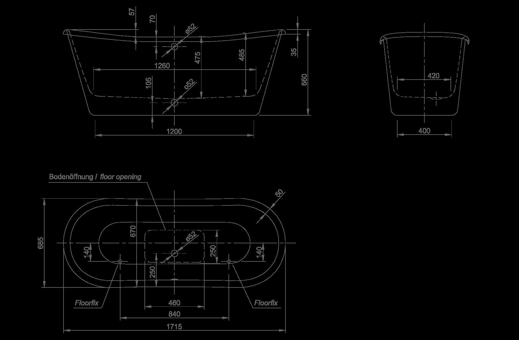 princess technische Zeichnung