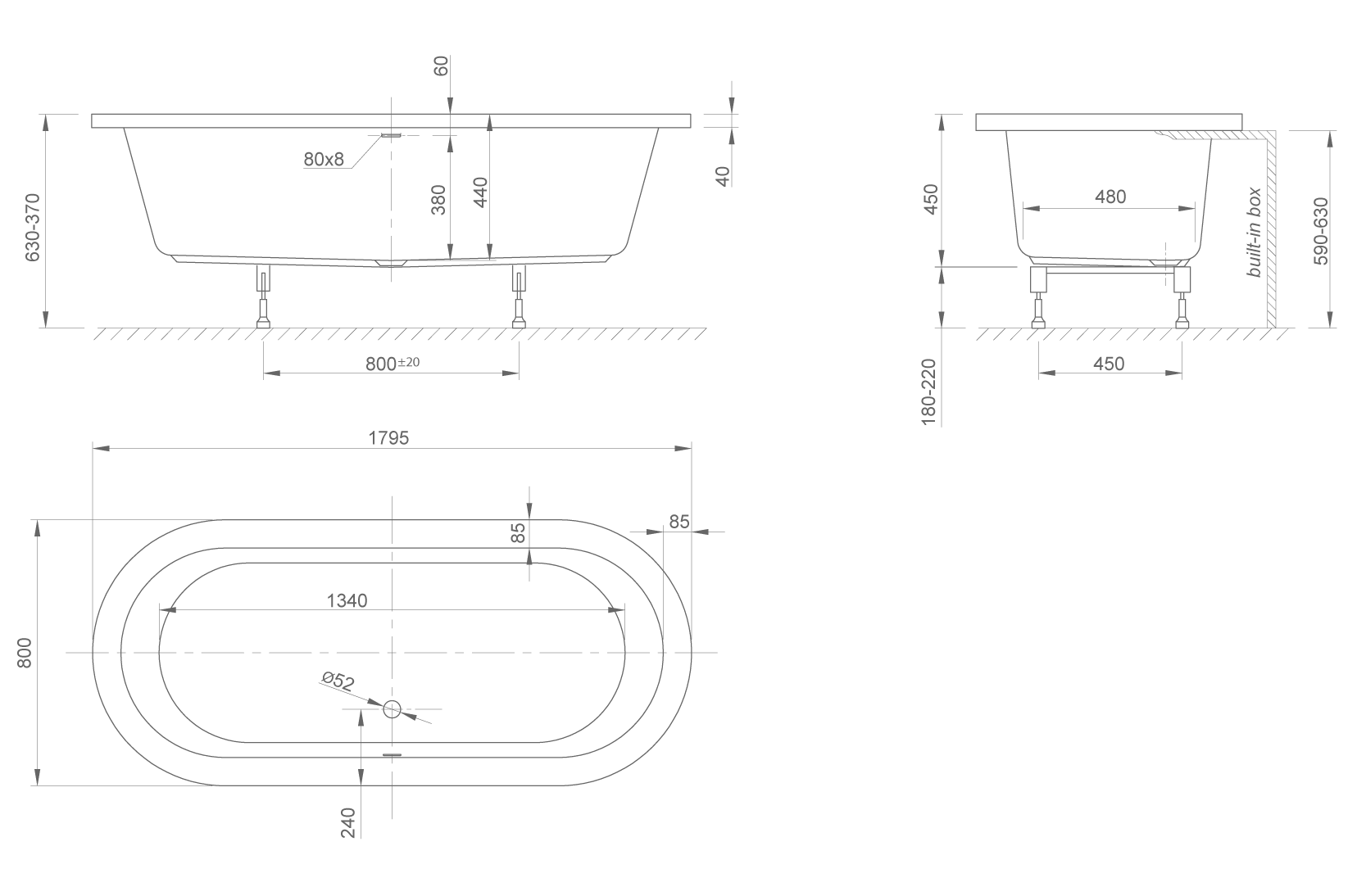 cool Fit technical drawing