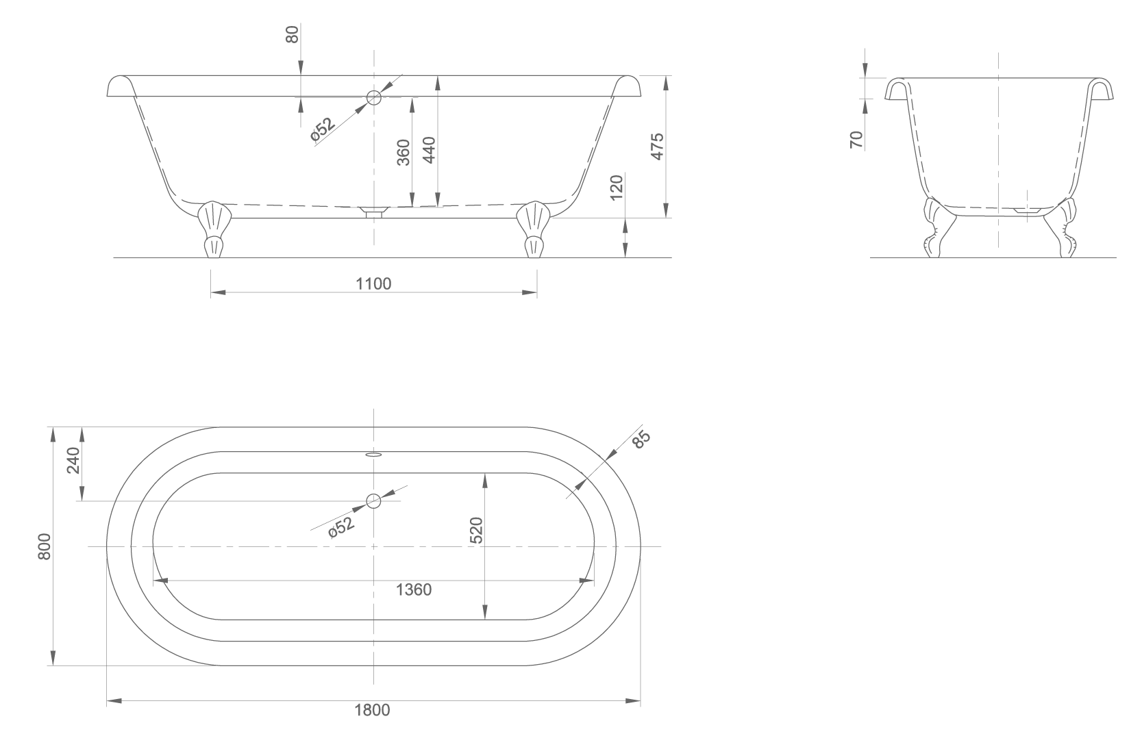 Edwardian xl technical drawing