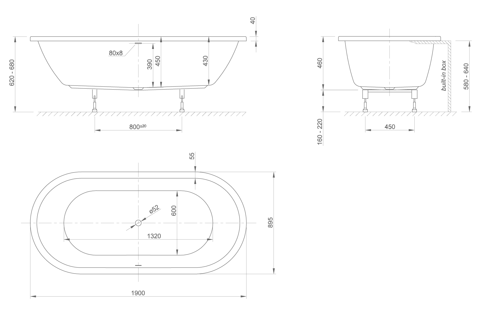 form Fit technical drawing