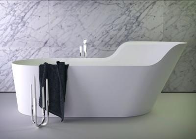 Glow асимметричная ванна правосторонная