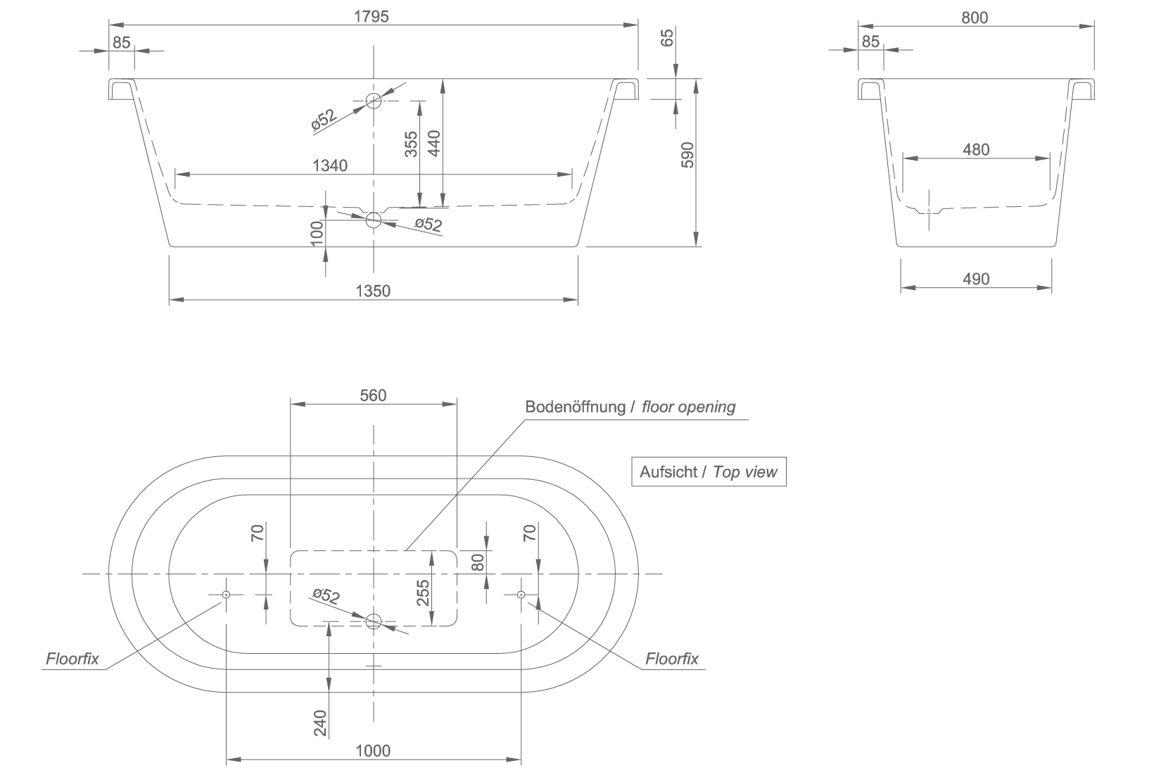 loft technical drawing