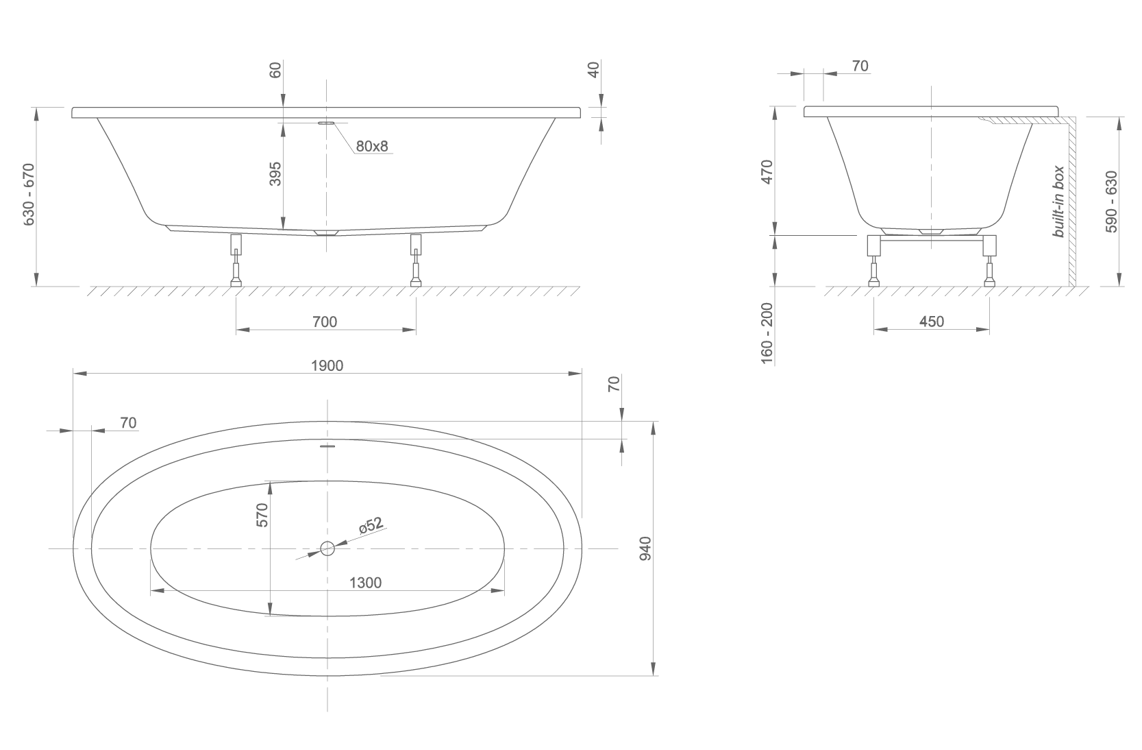 loom fit technical drawing