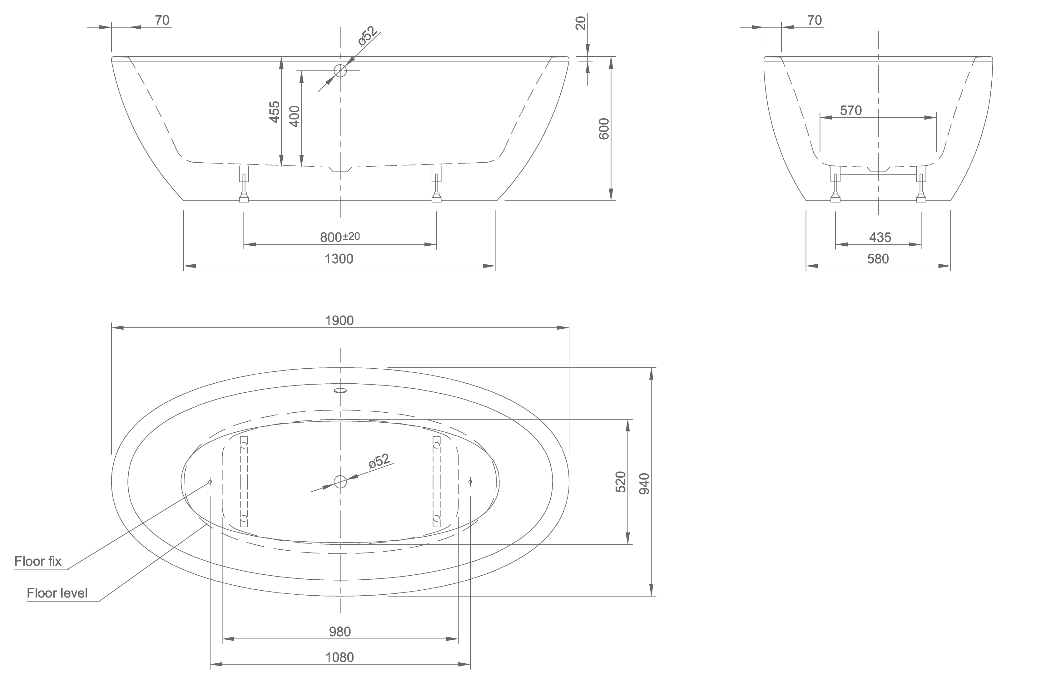 Loom technical drawing