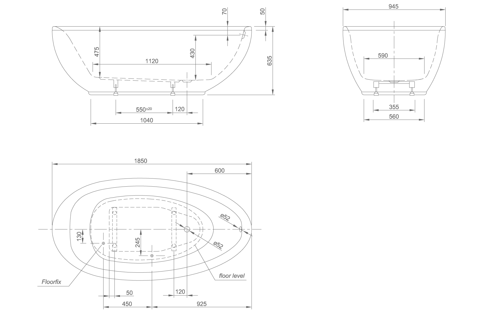 Lounge technical drawing