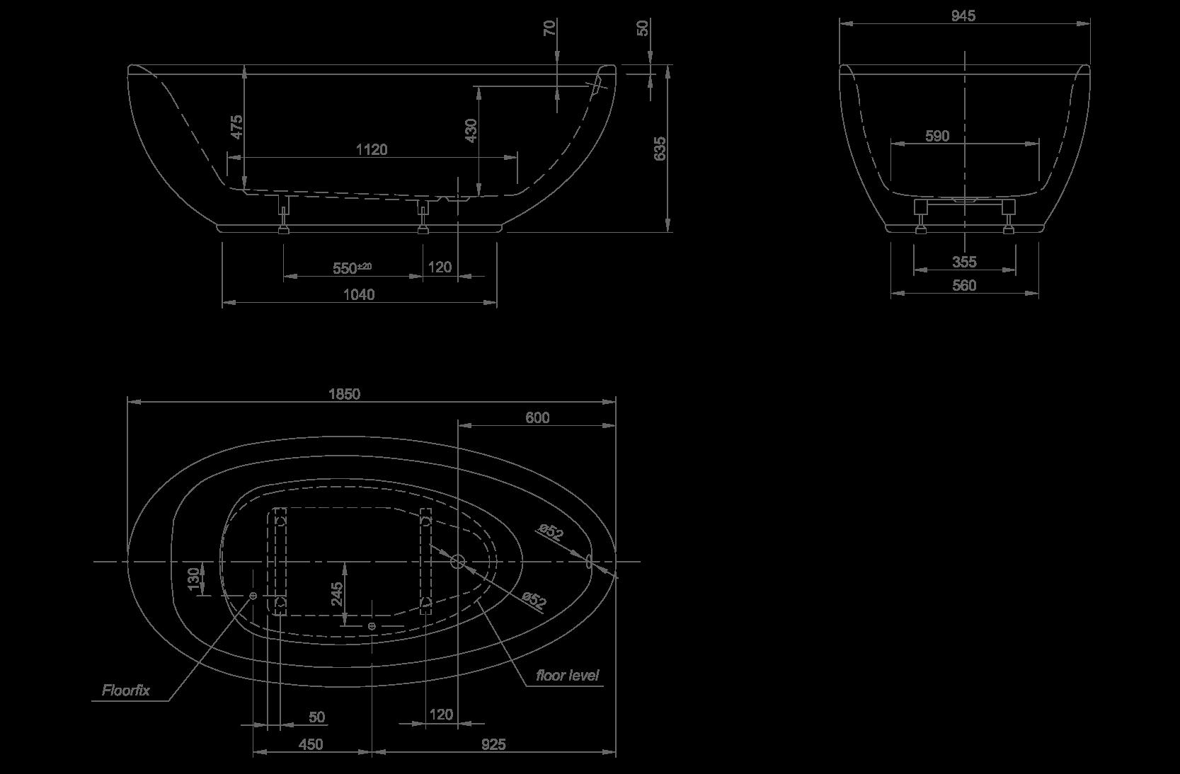 Lounge technische Zeichnung