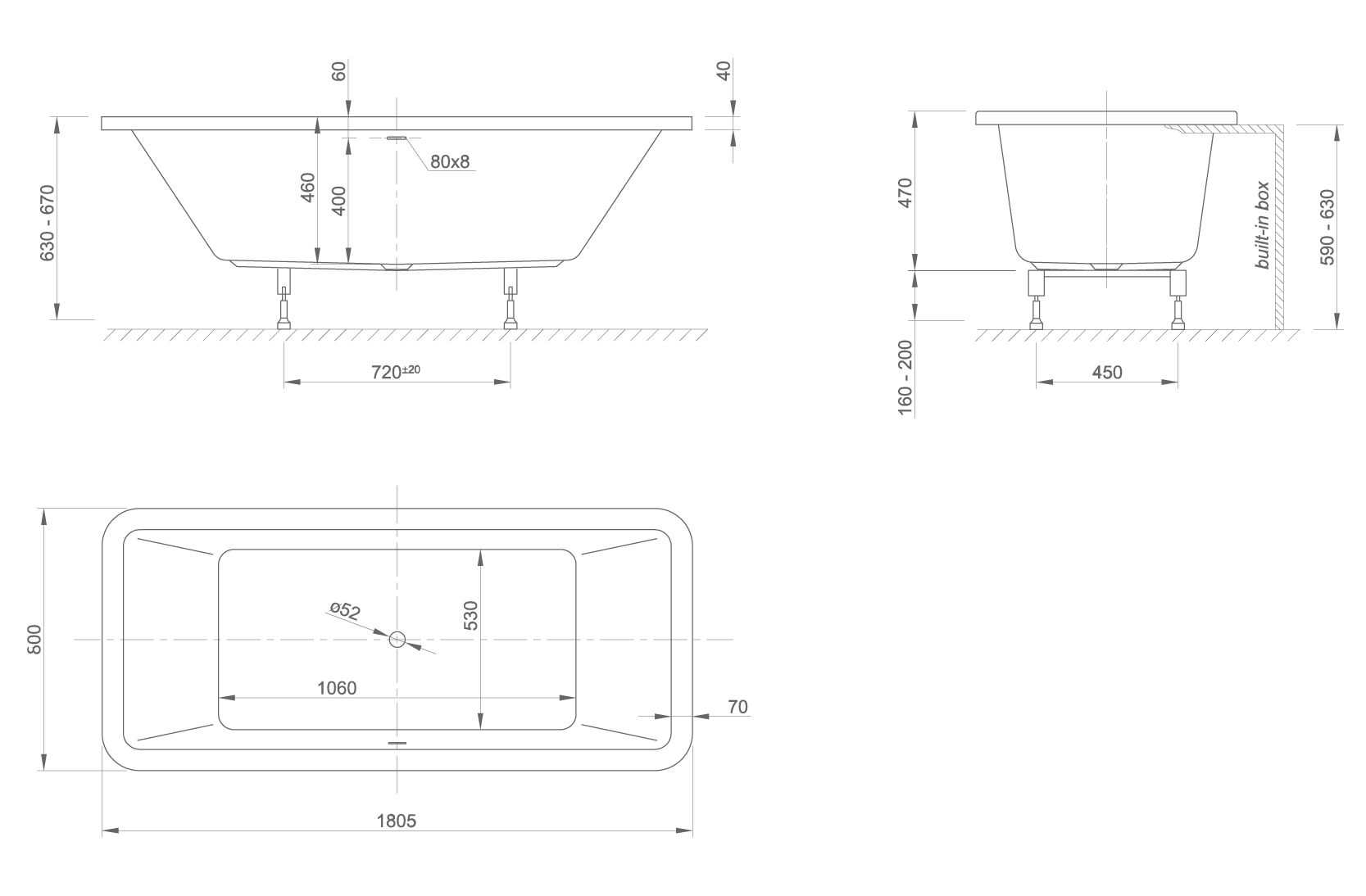 mood Fit technical drawing