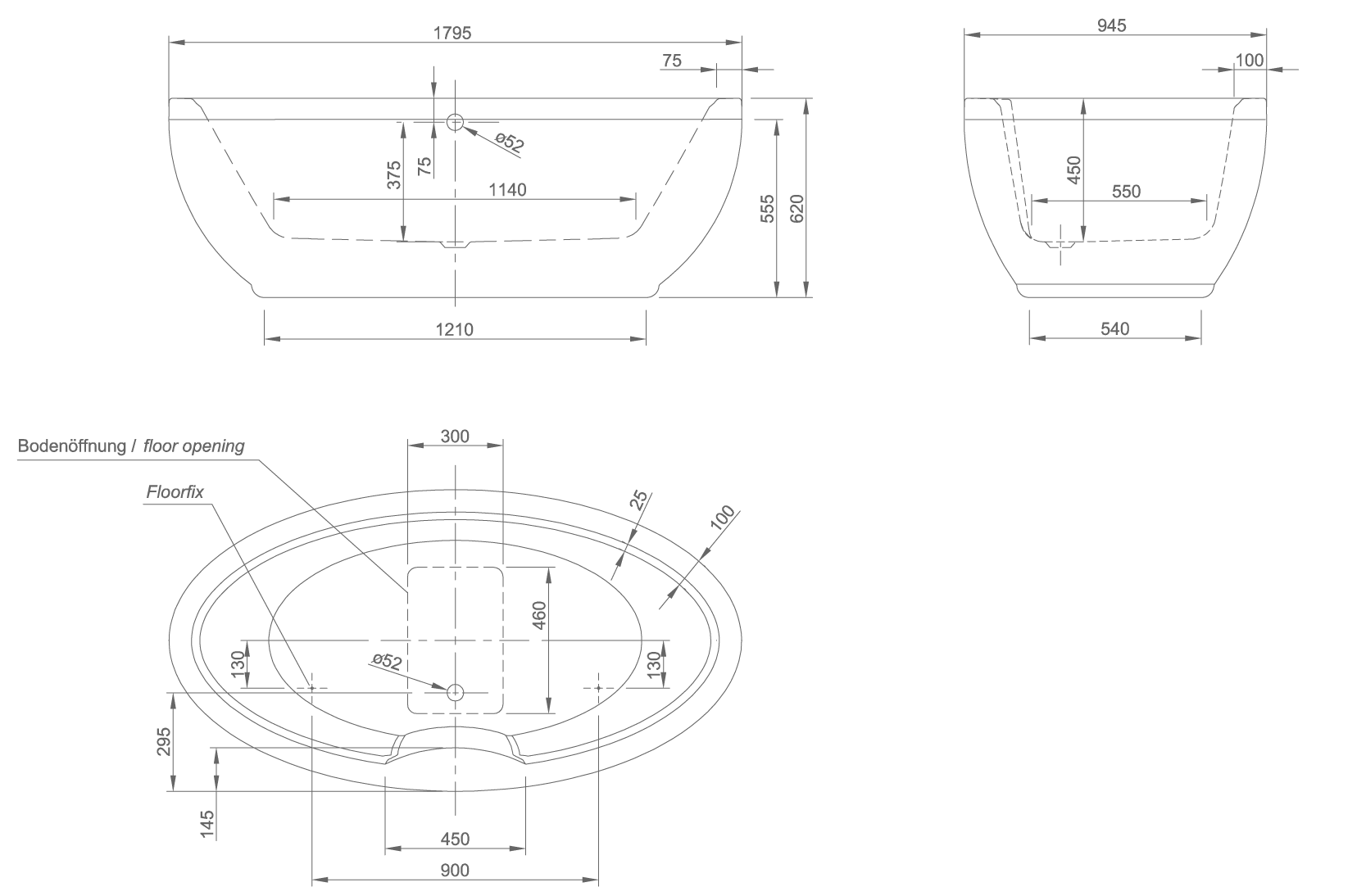 oval technical drawing