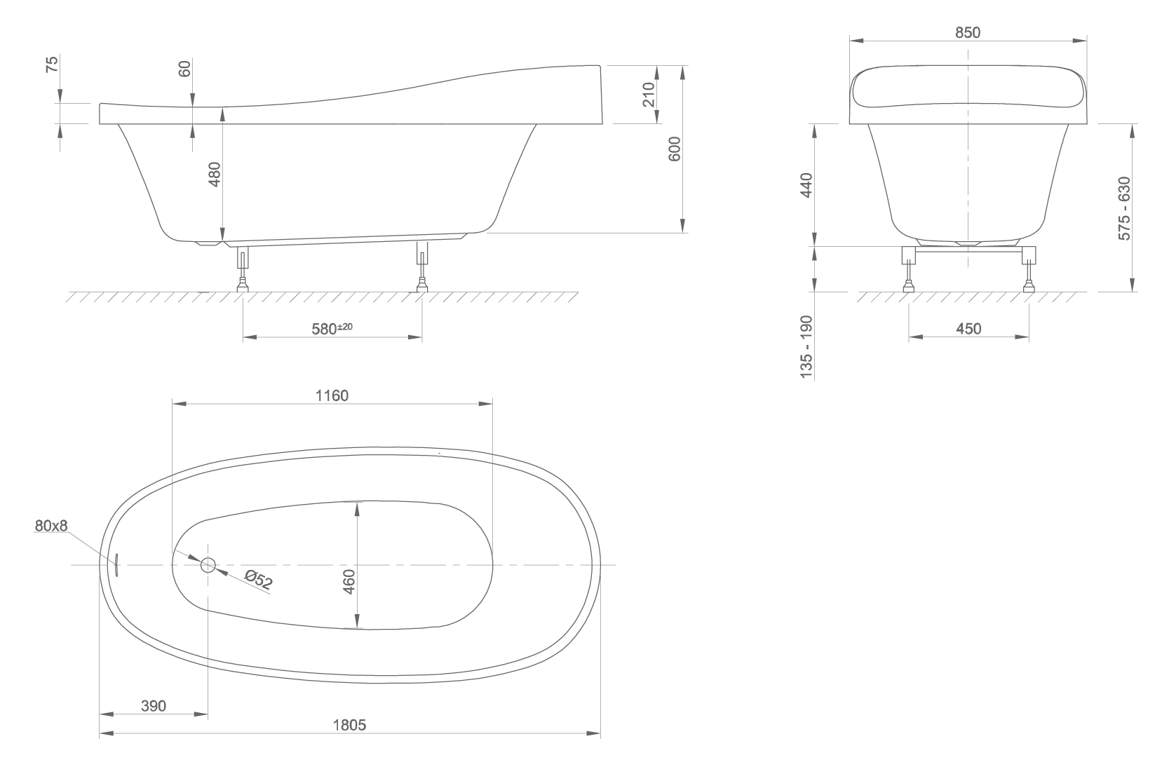 Relax technical drawing