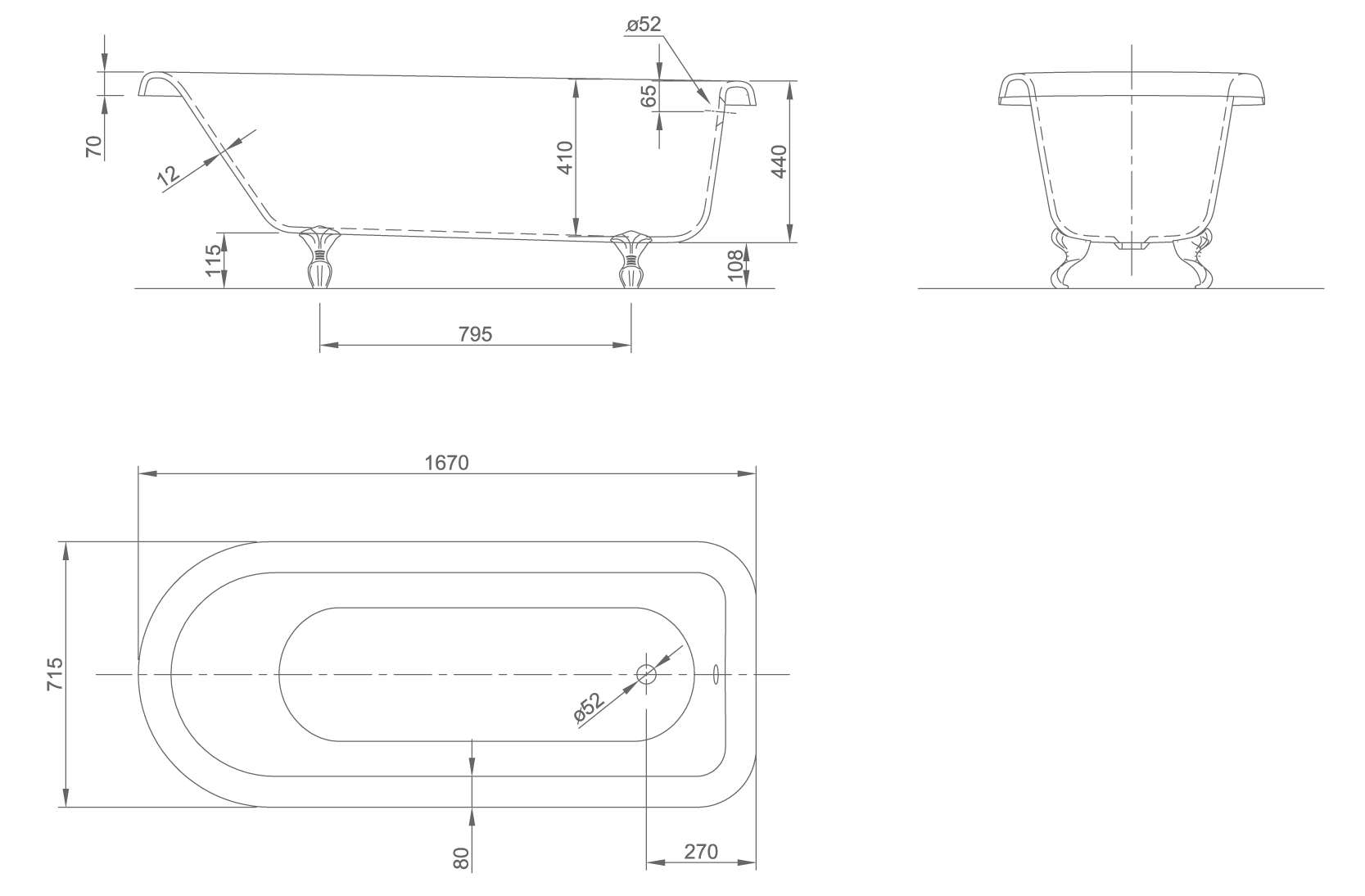 RollTopxl technical drawing