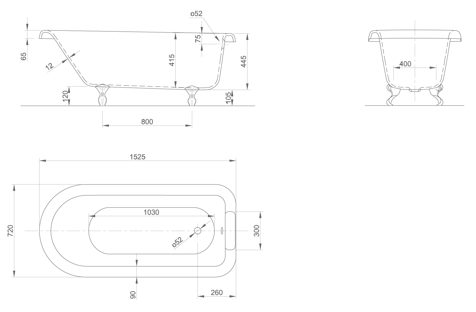 RollTop technical drawing