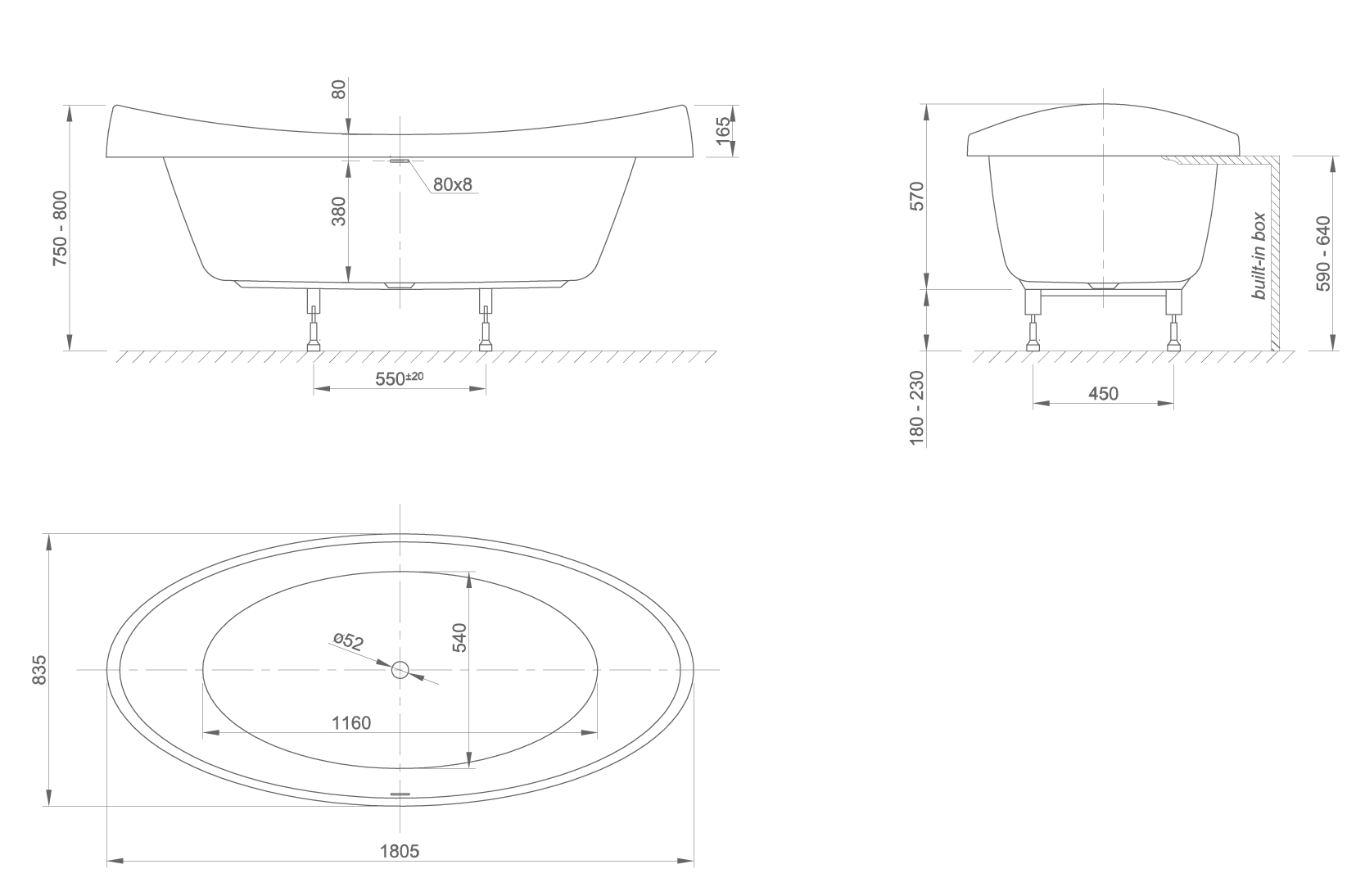 venicefit technical drawing