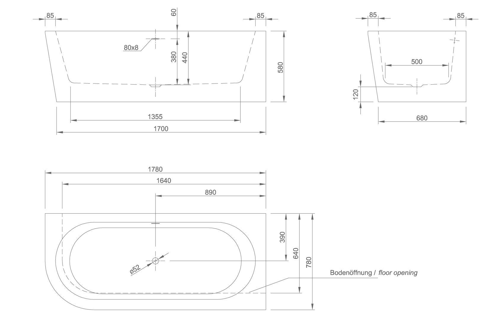 walll technical drawing