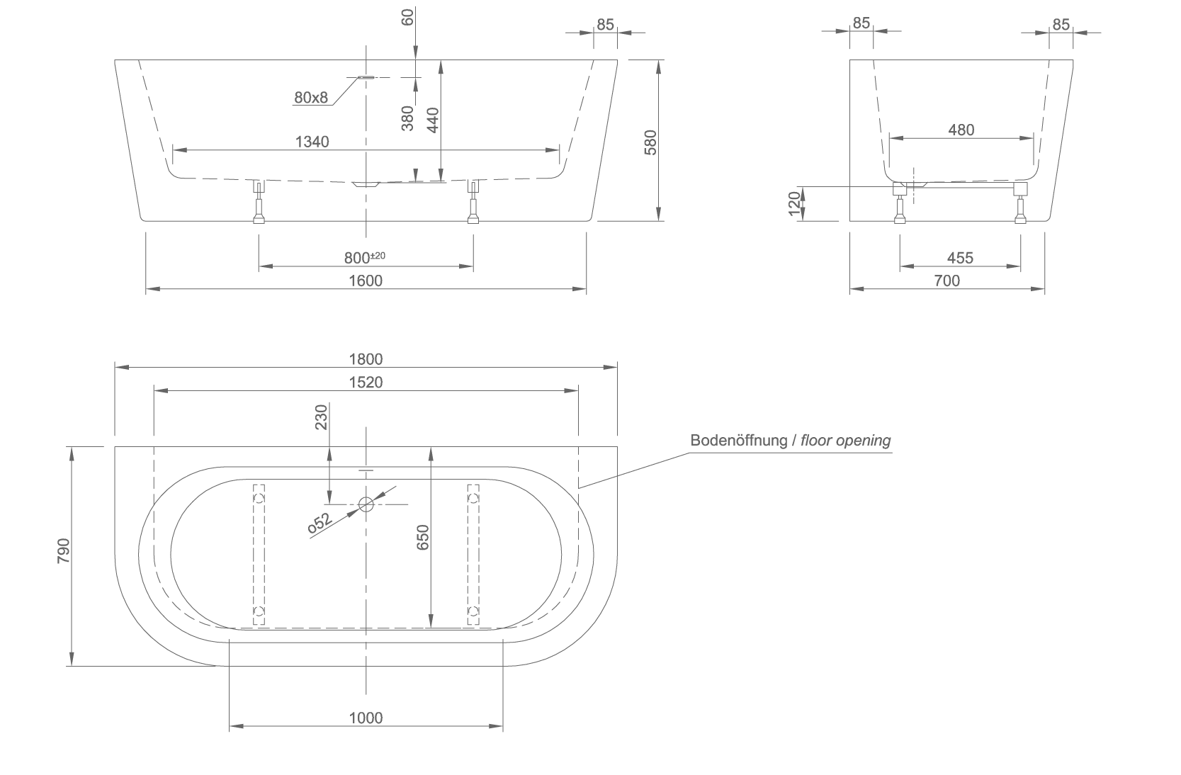 wall technical drawing