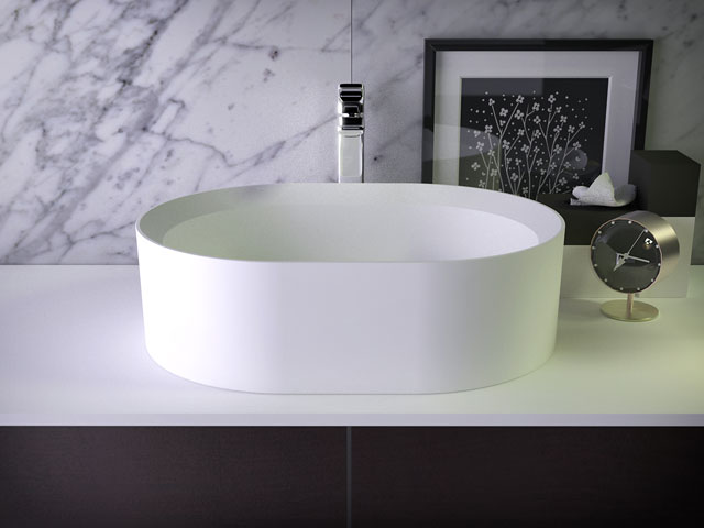 Glow countertop washbasin