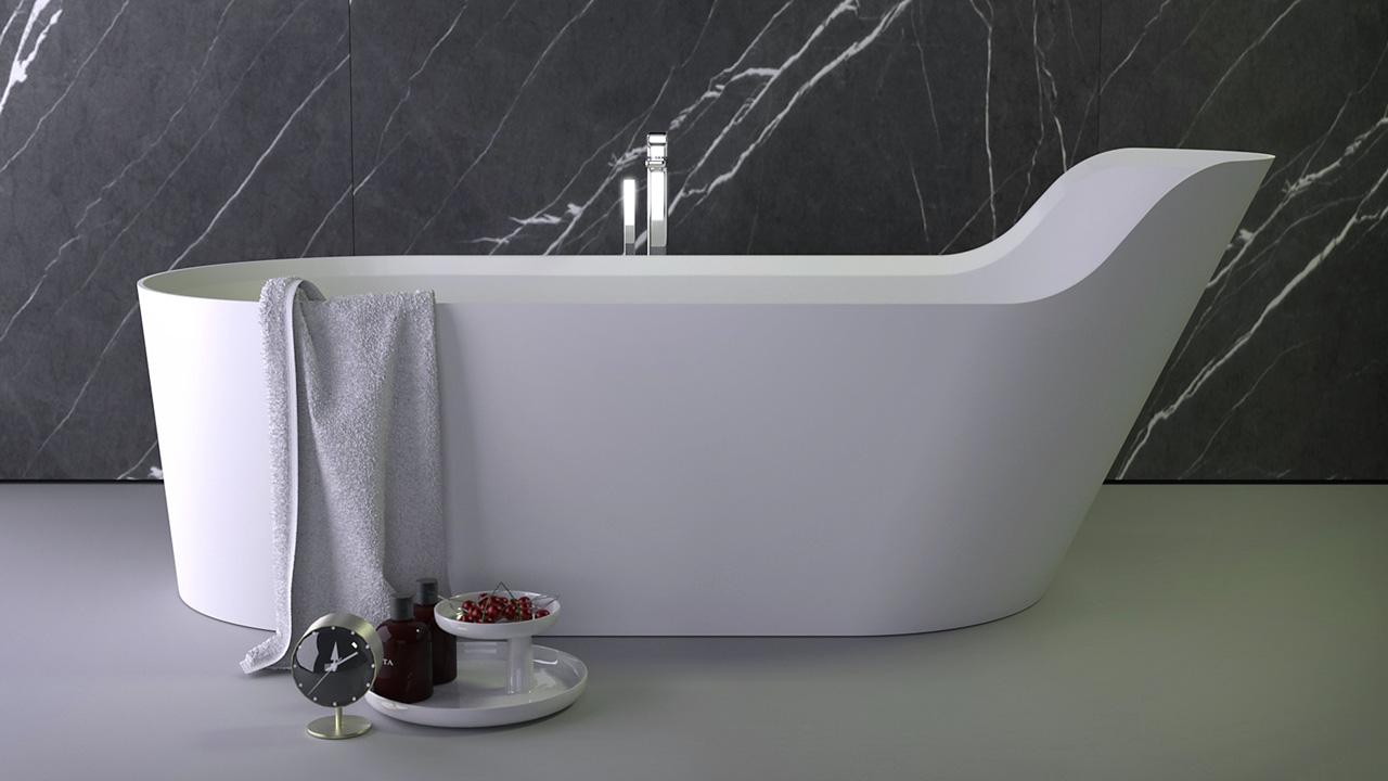 Pearl highback bath - KniefCo