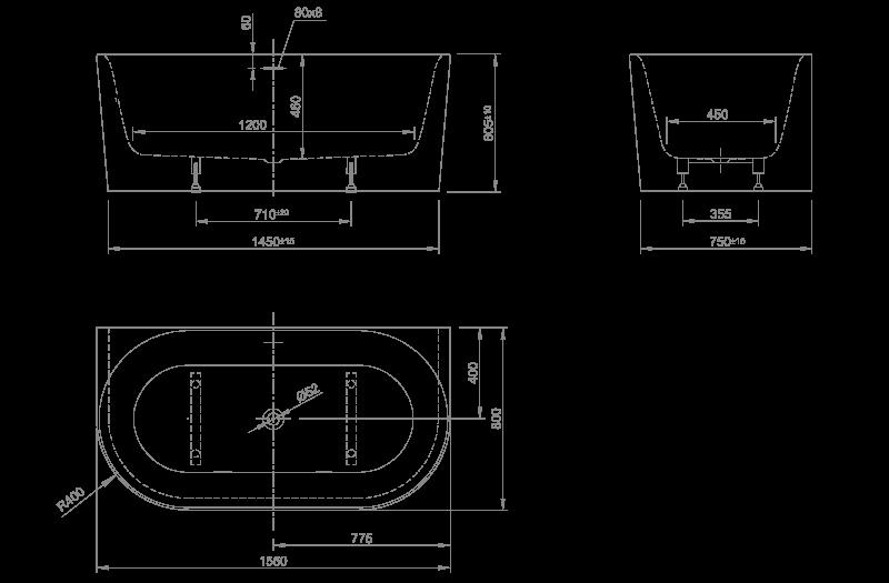wall technische Zeichnung
