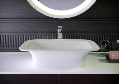 Glam раковина на туалетном столике