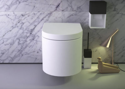 Glow rimless wallhung wc