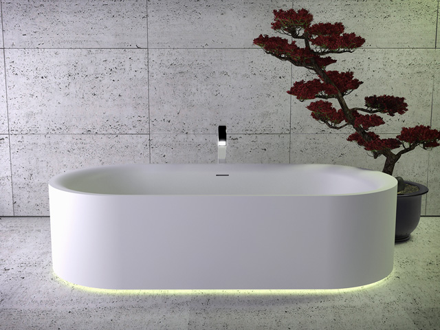 Moon freestanding bath