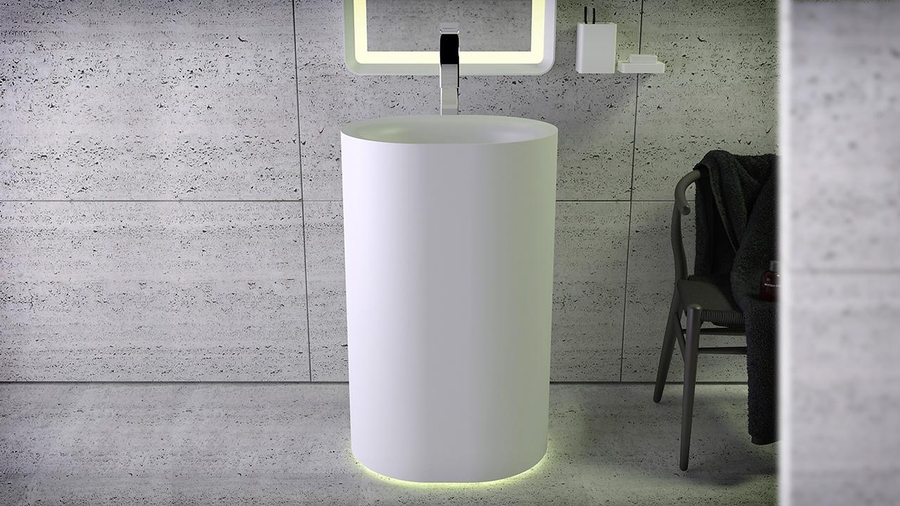 moon freistehendes waschbecken kniefco. Black Bedroom Furniture Sets. Home Design Ideas