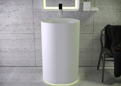 Moon free-standing washbasin