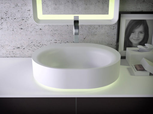 Moon countertop washbasin